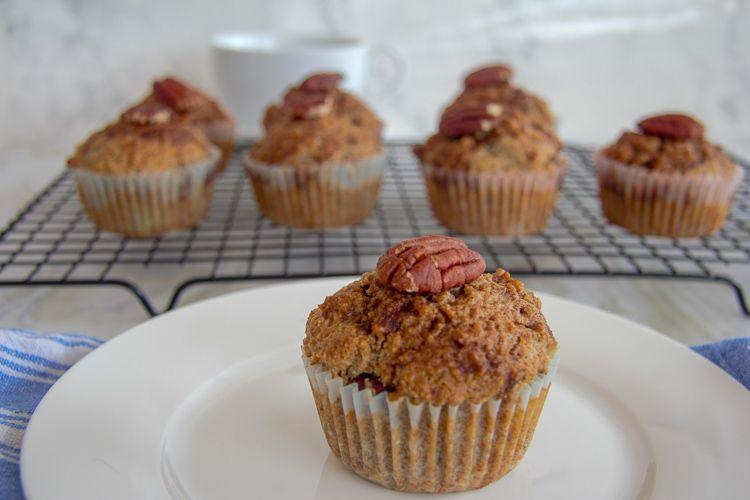 flaxseed cinnamon muffins