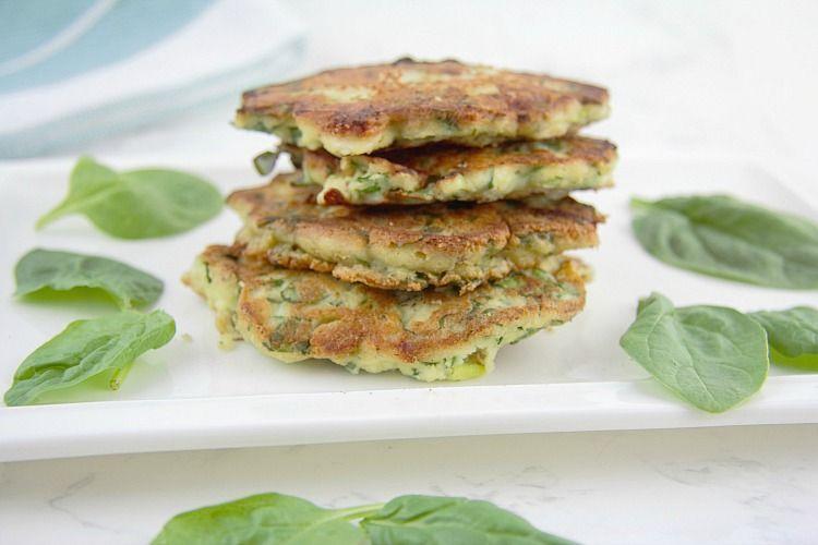 spinach feta pancakes
