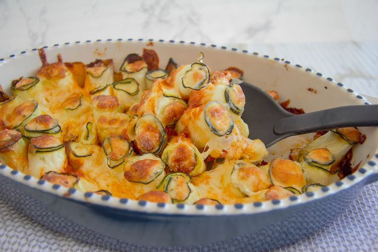 zucchini lasagan roll ups