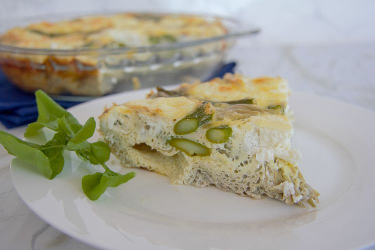 crustless aspargus quiche