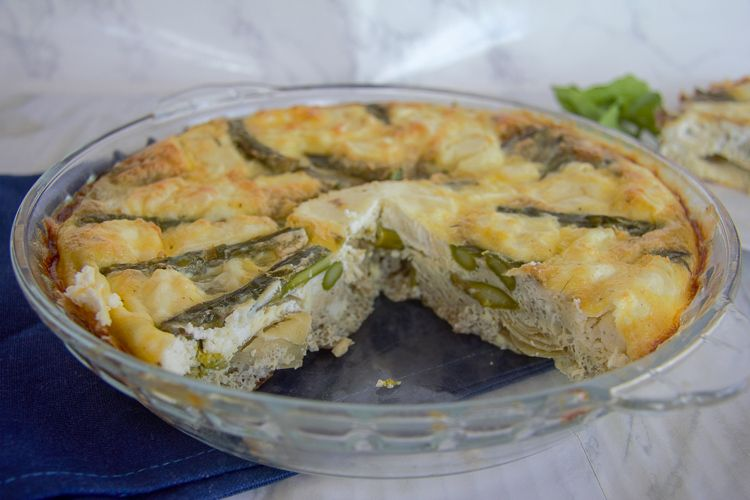 no crust asparagus quiche