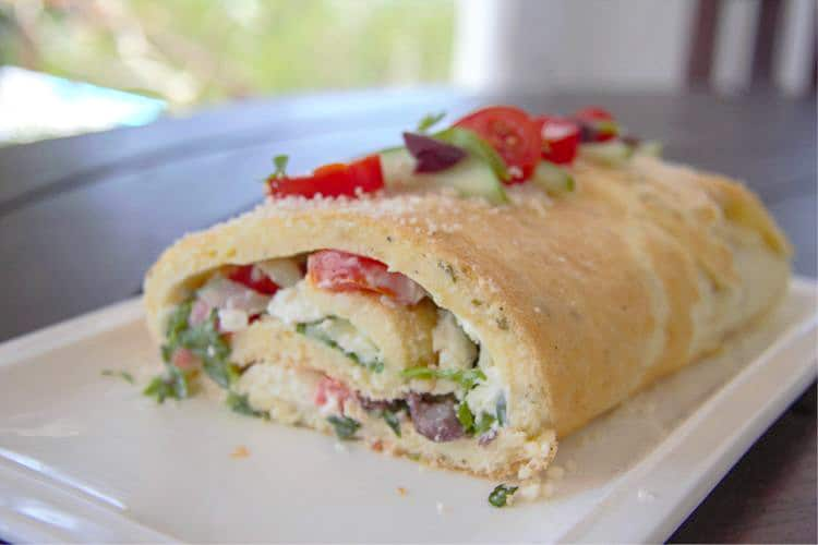 a savoury roulade