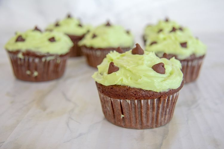 low carb mint chocolate cupcakes