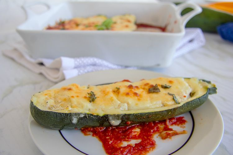 Baked zucchini with ricotta