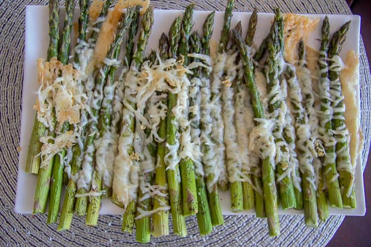 asparagus spears roasted with Parmesan cheese