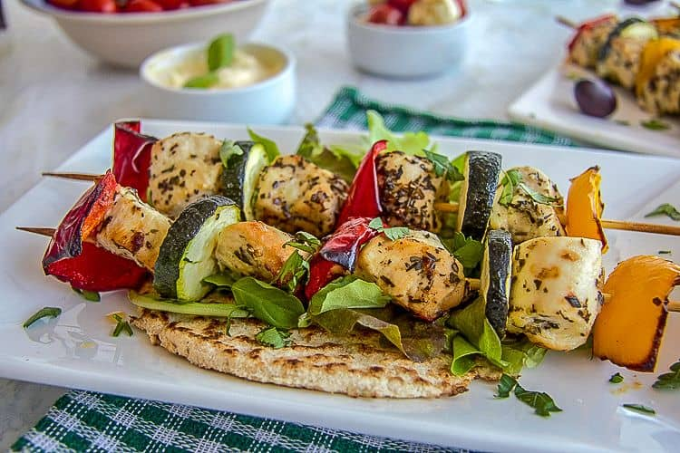 healthy chicken recipe on low carb flatbread