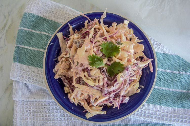spicy chipotle pepper coleslaw