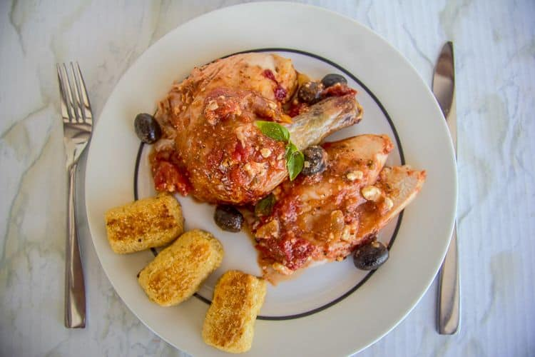 roasted chicken in a tomato sauce