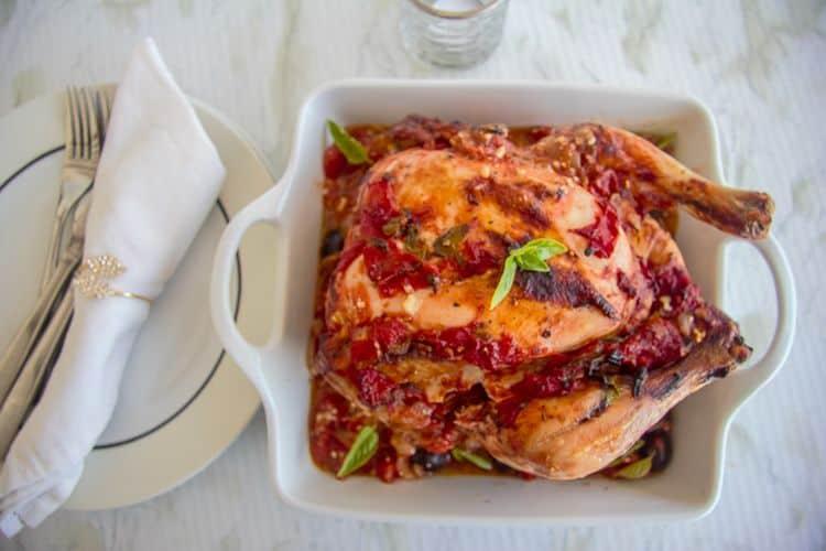 chicken roasted in tomatos