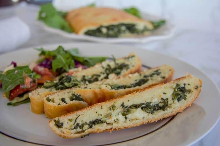 spinach feta stromboli