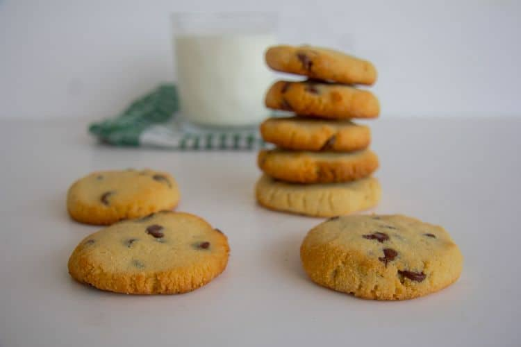 cream cheese cookies with chocolate chips