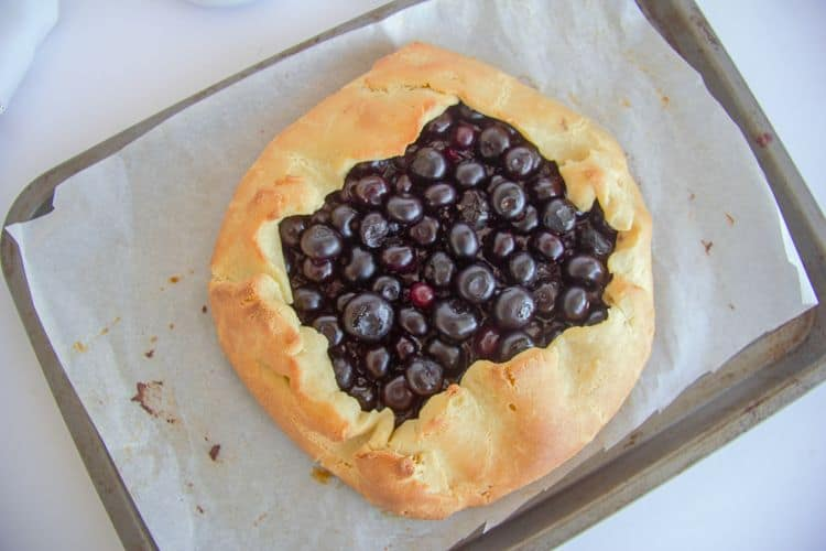 blueberries baked in a low carb pastry