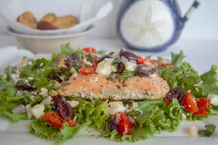 baked greek salmon