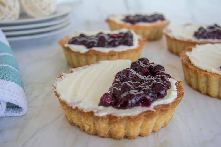 blueberry mascarpone tart