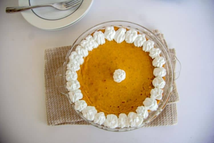 crust less pumpkin pie with mascarpone