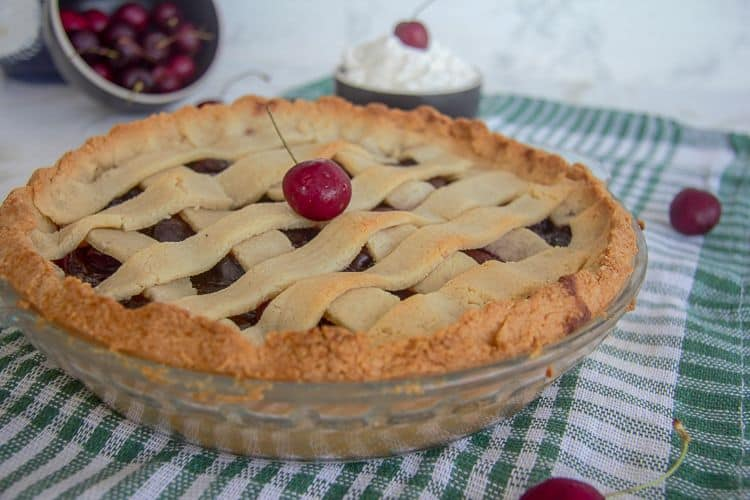 low carb cherry pie