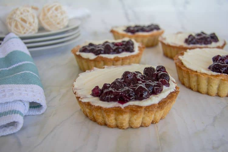 blueberry mascarpone tarts