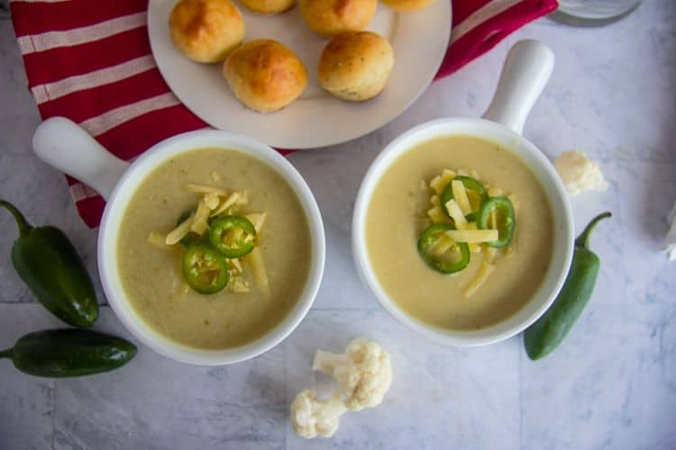 cauliflower jalapeno soup