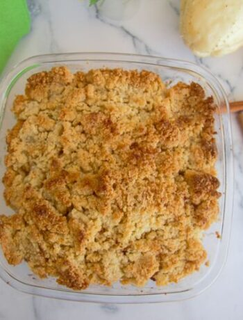 chayote crumble with almond flour