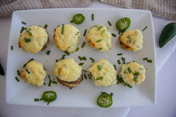 stuffed mushrooms with jalapeno and cream cheese
