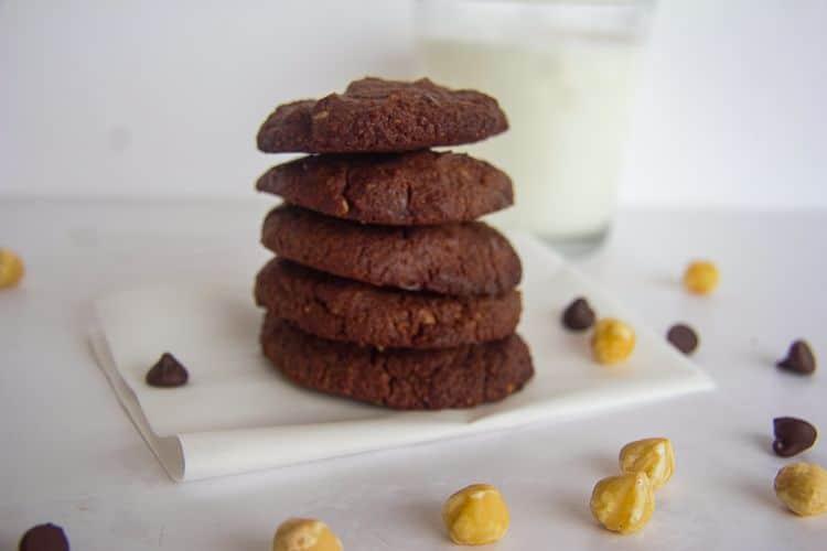 low carb chocolate hazelnut cookies