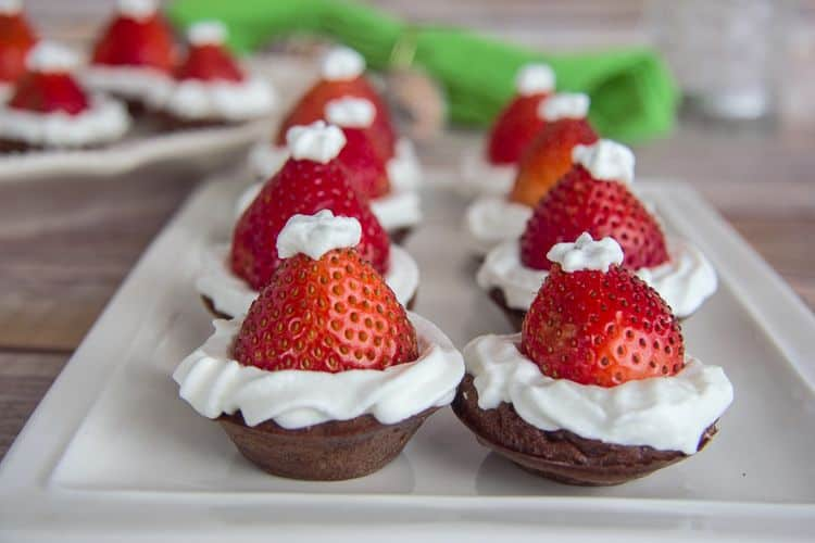 easy strawberry santa hat