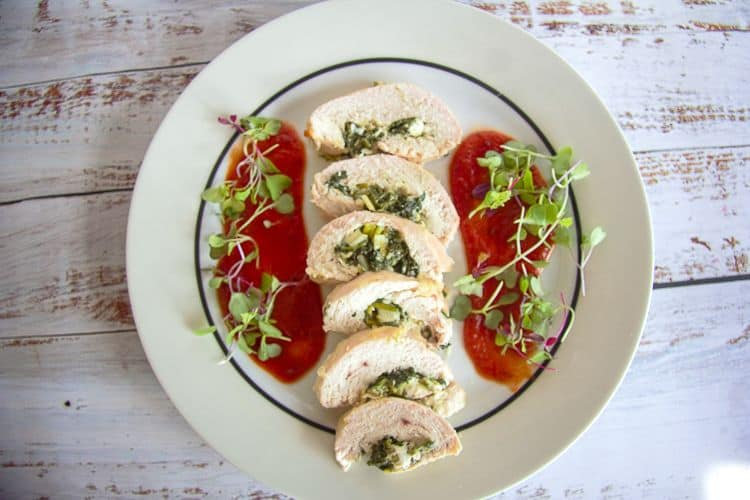 chicken spinach roulade