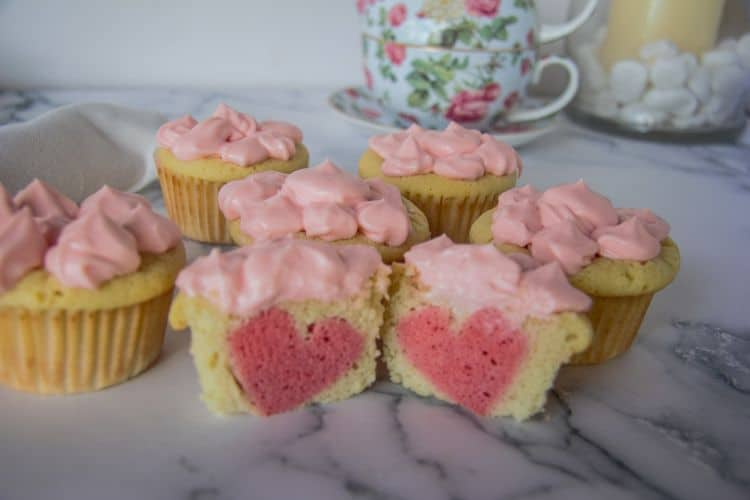 low carb heart cupcakes