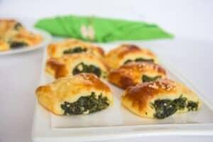 low carb spinach feta rolls