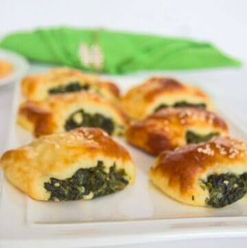 low carb spinach feta rolls