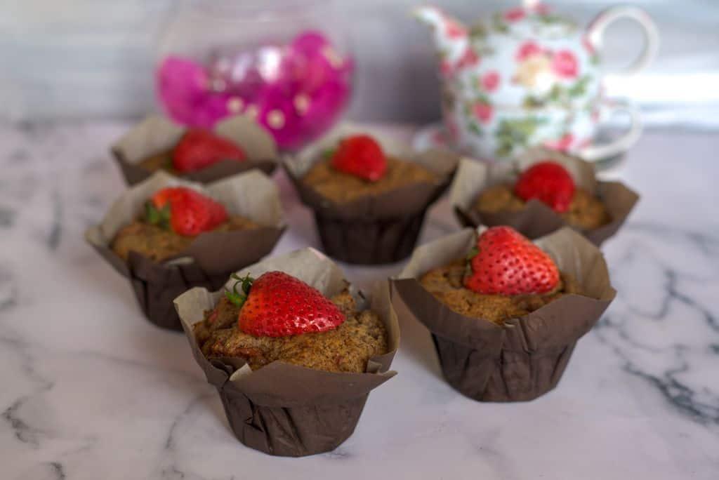 flaxseed strawberry muffins