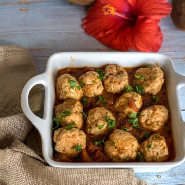 cajun chicken meatballs