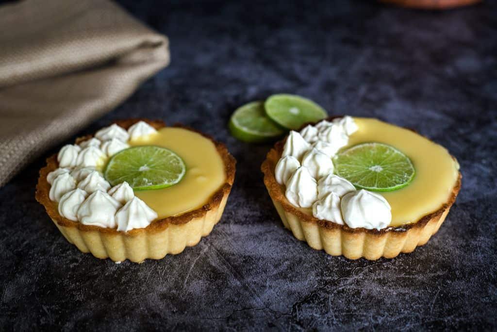 lime curd tarts