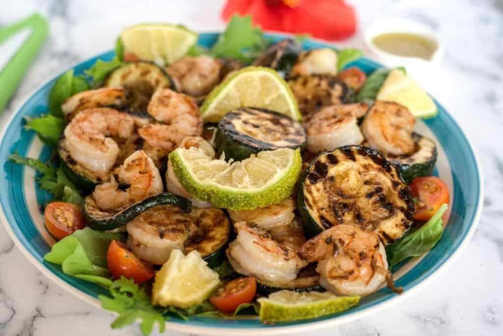 shrimp & zucchini in a lemon dressing