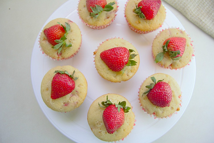 strawberry muffins made with almond flour