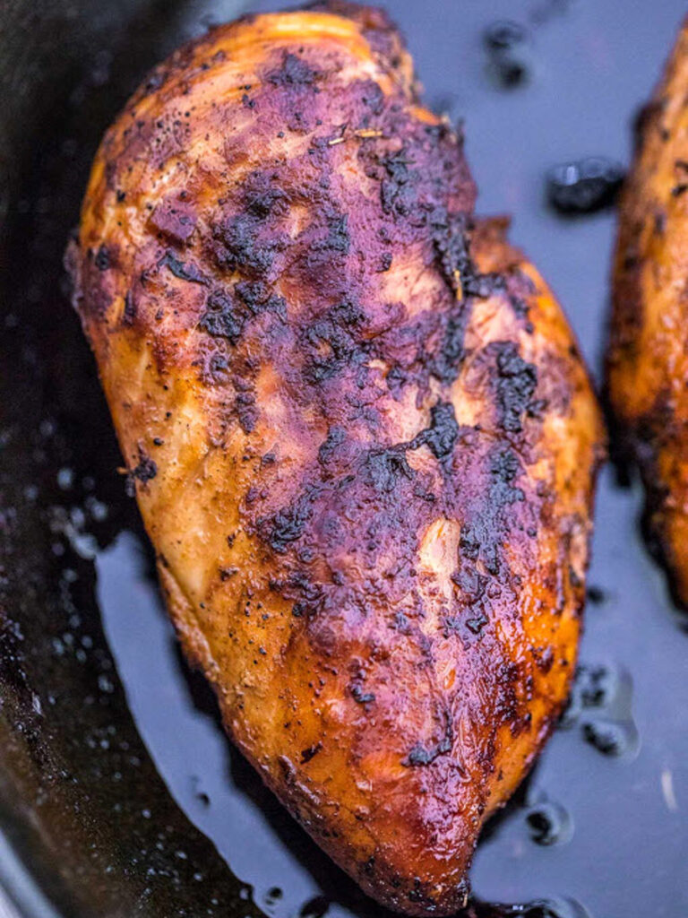 chicken with blackened spices