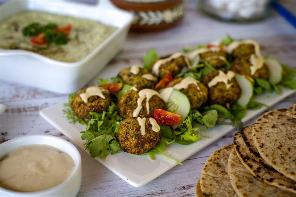 cauliflower falafel with tahini sauce