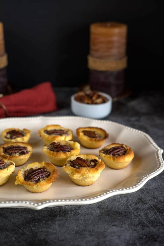 low carb mini pecan pie tarts