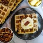 low carb pecan waffles