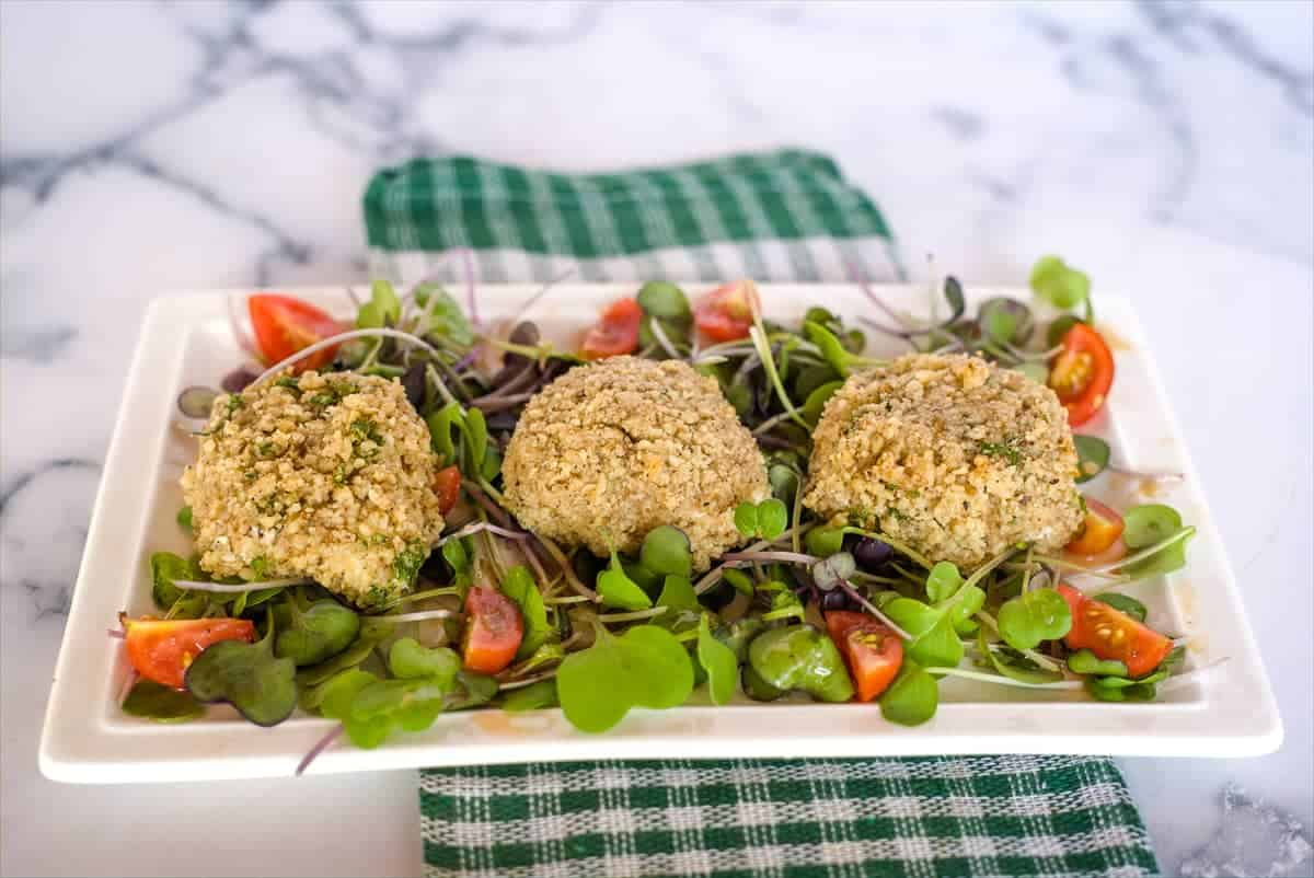 walnut crusted goats cheese
