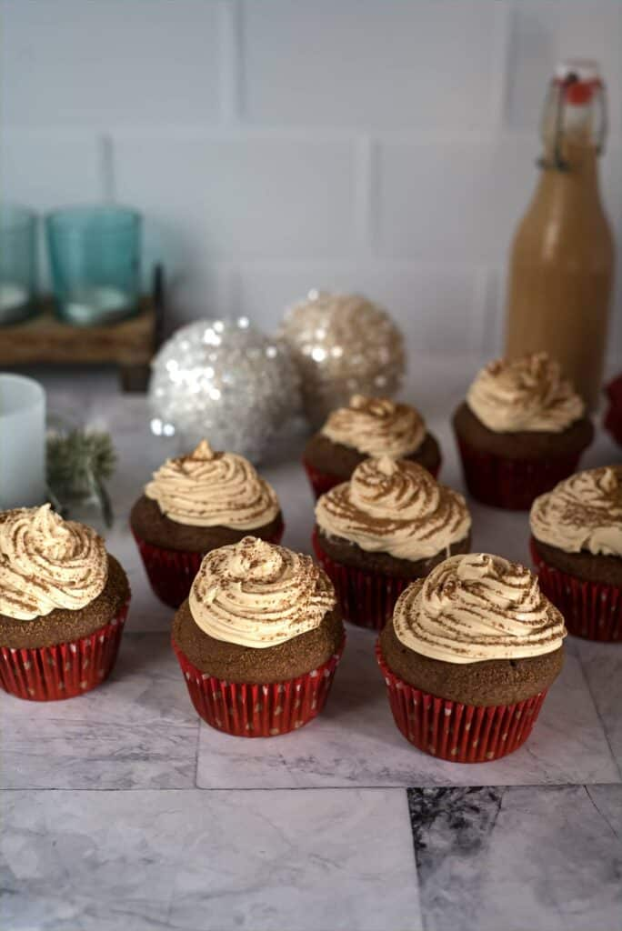 chocolate cupcakes with a Baileys cream frosting