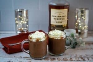 chocolate rum mousse