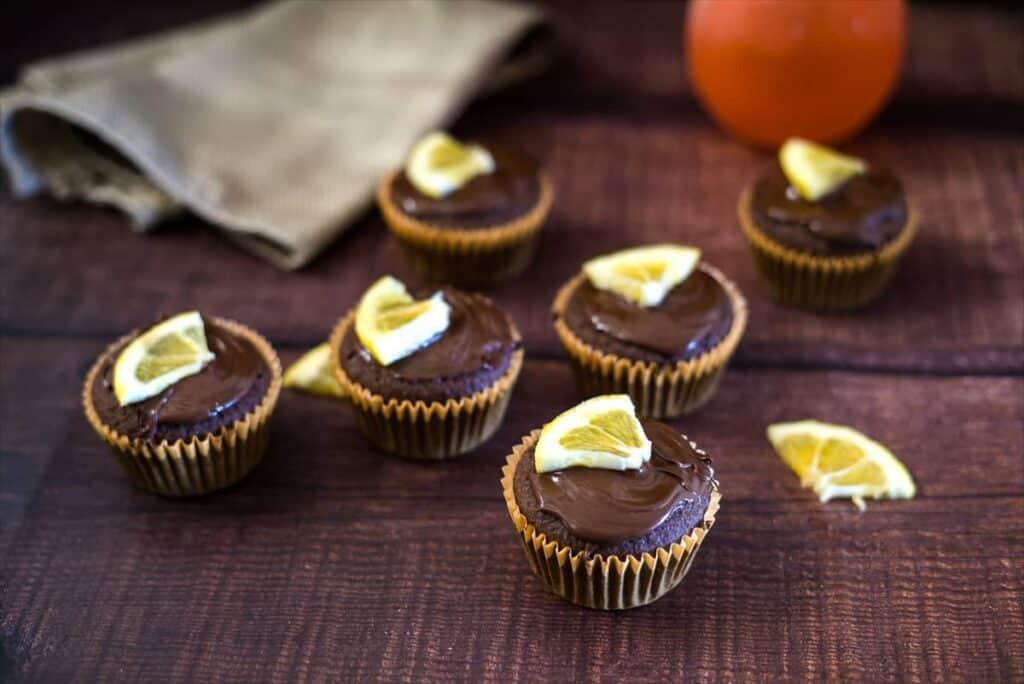 hazelnut flour muffins with orange segments
