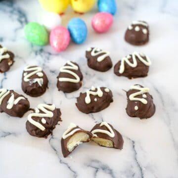 chocolate marzipan eggs