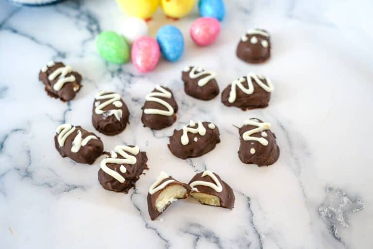 chocolate marzipan eggs