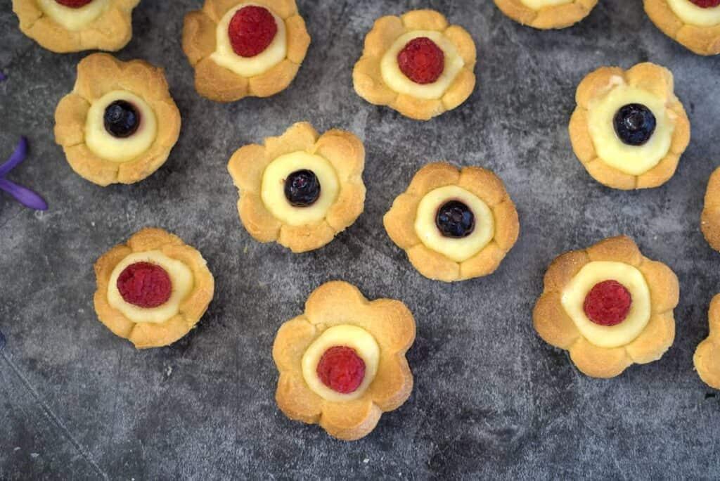 flower lemon cookies