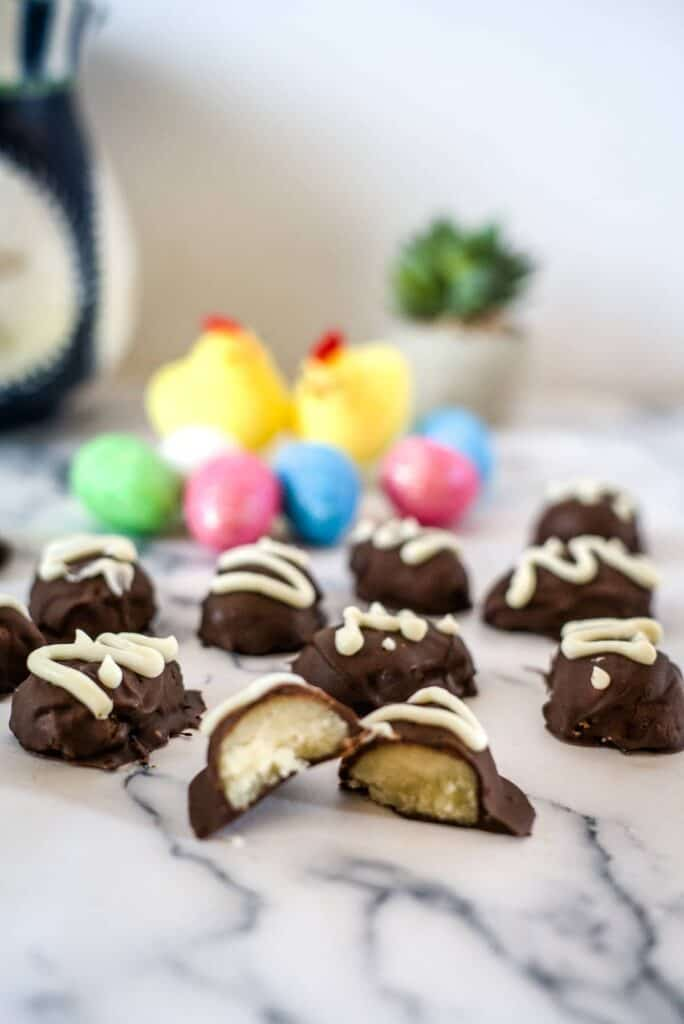 chocolate covered egg shapes