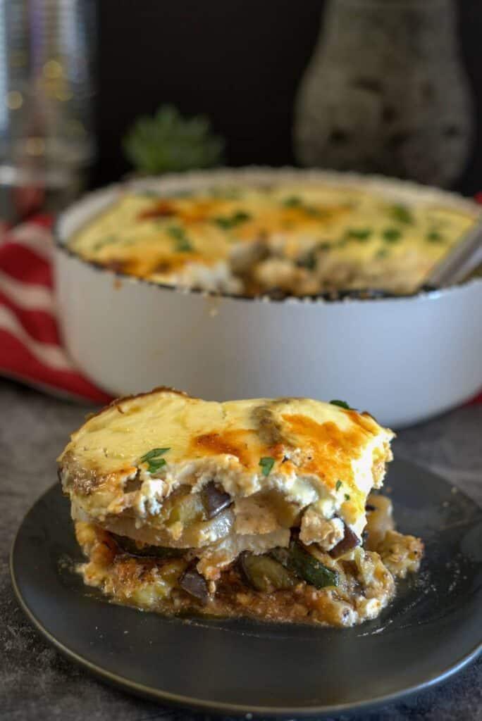 moussaka with turnips and eggplants