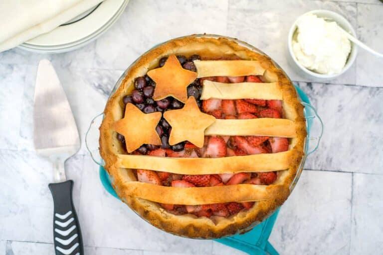 usa flag berry pie