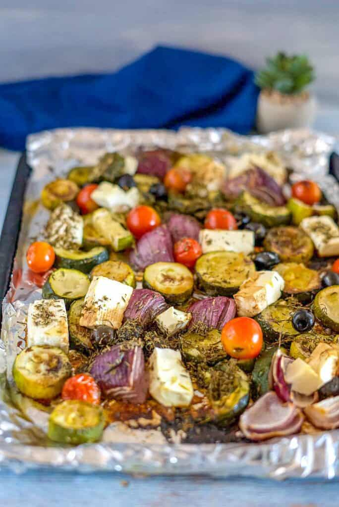 roasted zucchini with vegetables